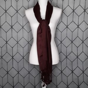 CHARMING CHARLIE Brown Scarf with Tassel Fr